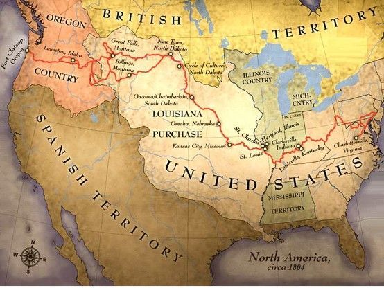 May 14 Lewis and Clark Depart on Their Expedition 1804  Maps