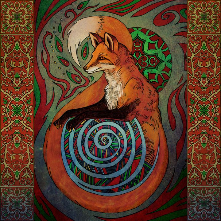 Image result for psychedelic fox paintings