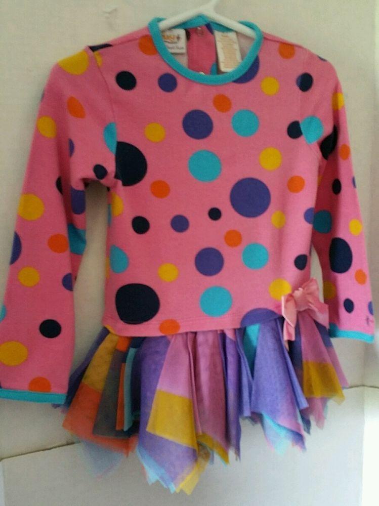INFANT GIRLS TRULY SCRUMPTIOUS PINK POLKA DOT DRESS SIZE 24 M.  #trulyscump #DressyEveryday