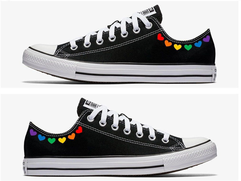 Canvas High Top Sneaker Casual Skate Shoe Mens Womens Transgender Pride Flag