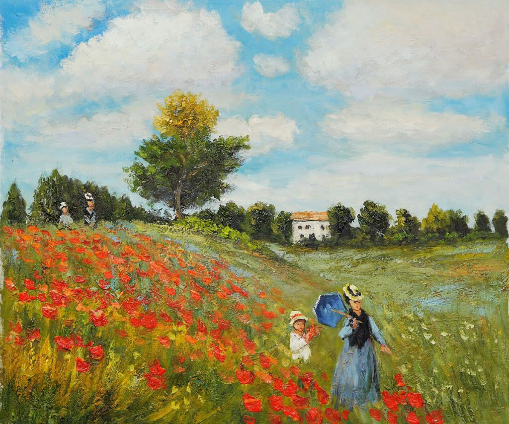 Image result for poppy field claude monet pictures