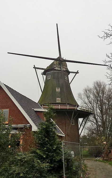Flour and grinding mill Aeolus, Adorp, the Netherlands