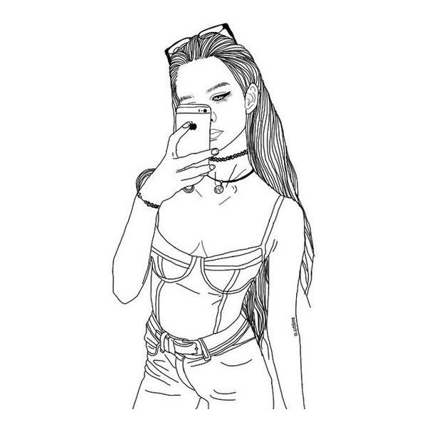 Line Drawing Tumblr Girl : Grunge transparent tumblr overlays liked on polyvore