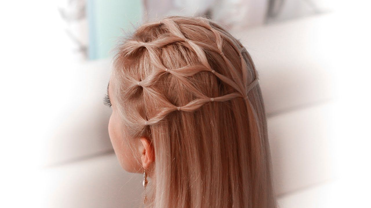 Hair net tutorial: cute Halloween hairstyle for a princess/elf