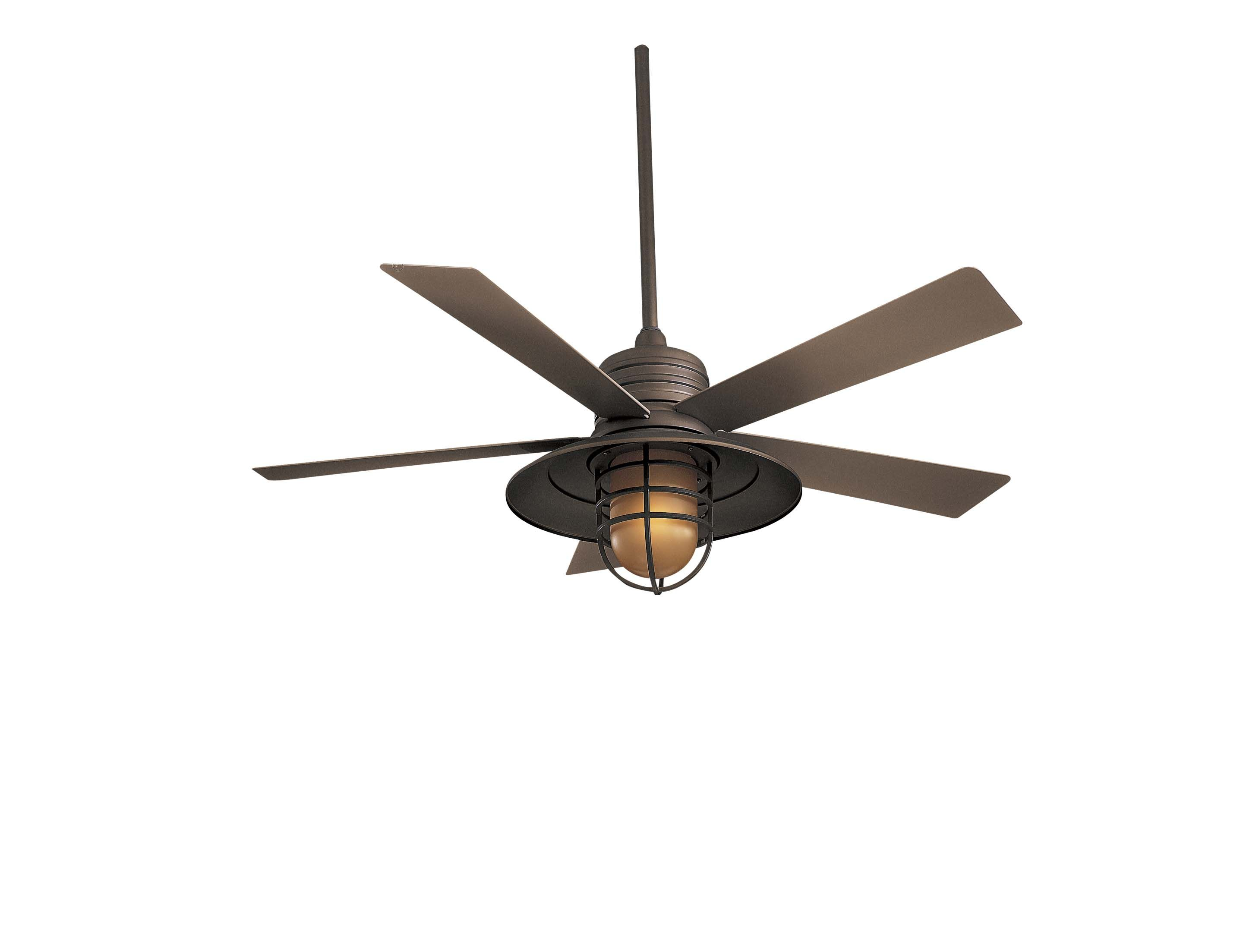 Rainman Indoor Outdoor Ceiling Fan With Light By Minka Aire F582l Bnw Antique Ceiling Fans Outdoor Ceiling Fans Ceiling Fan