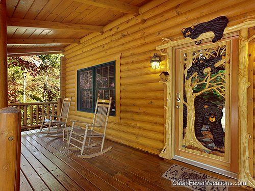 Gorgeous Smoky Mountains Front Porch Door Patio Deck