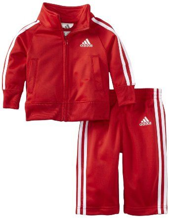 0fe429b73 Amazon.com  adidas Baby-Boys Infant ITB Iconic Tricot Set  Clothing  28.00