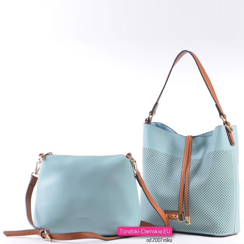0eb108a98f356 Dwie torebki w komplecie - piękny odcień jasnego pastelowego błękitu ...