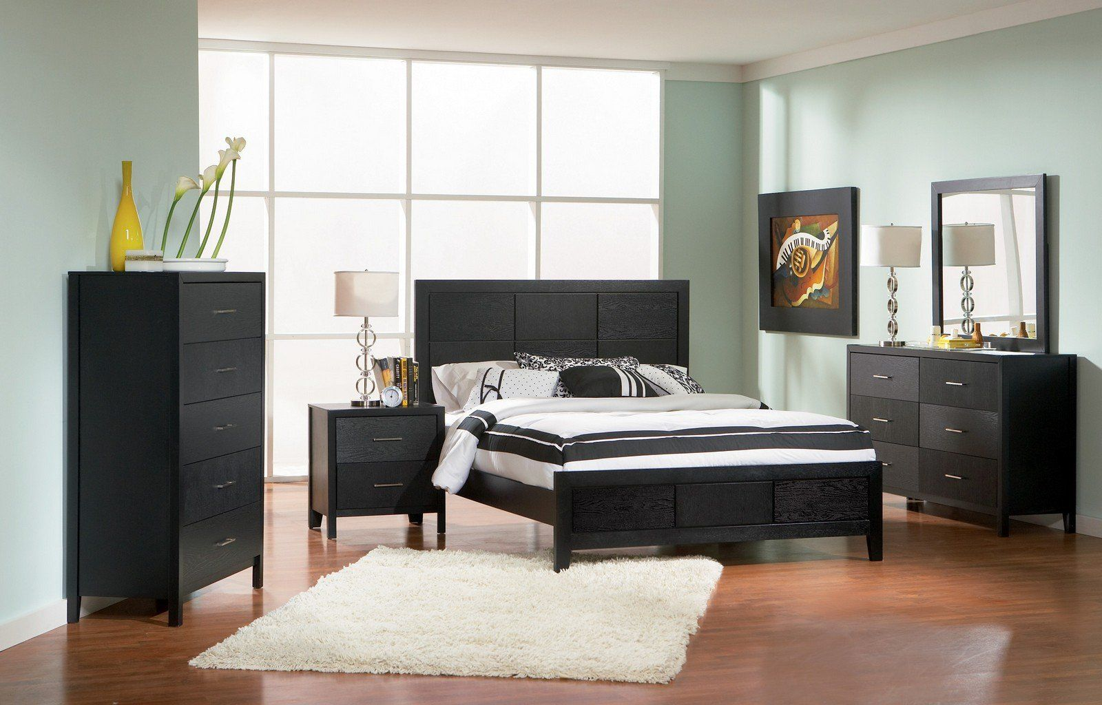 Coaster Transitional Cal King Bed With Black Finish 201651kw Want Added Information Click On The Phot Bedroom Set King Bedroom Sets King Bedroom Furniture