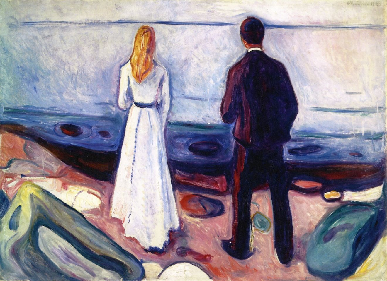 Two Human Beings (The Lonely Ones) - Edvard Munch - 1898.  Professional Artist…