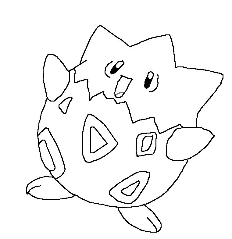pokemon coloring togepi coloring page