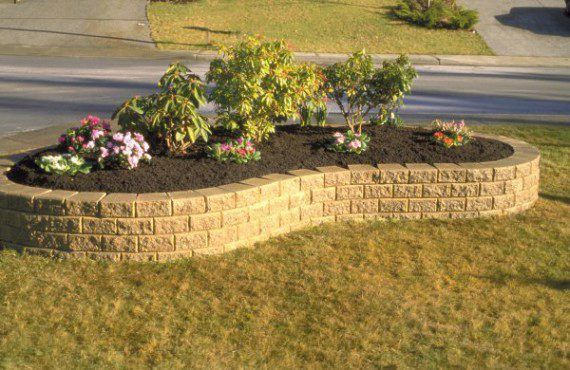 Unilock curved garden wall with Stack Stone | _______Yard BRICK ...