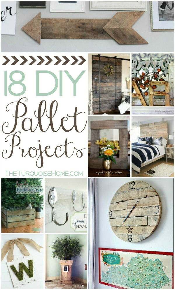 How to's : 18 DIY Pallet Projects | TheTurquoiseHome.com #DIY #Pallets