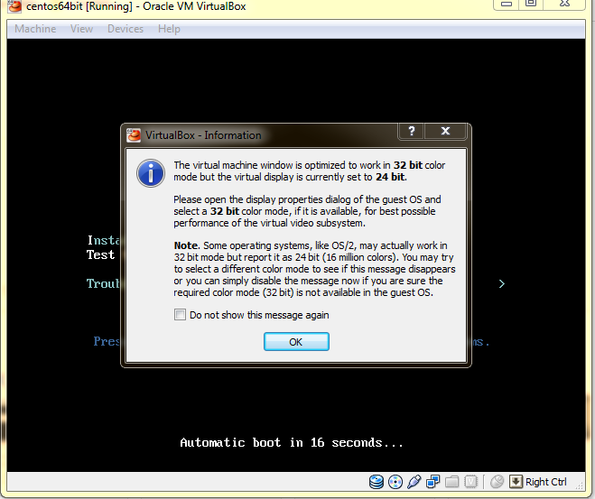 while installing centos in virtual box i am getting this error