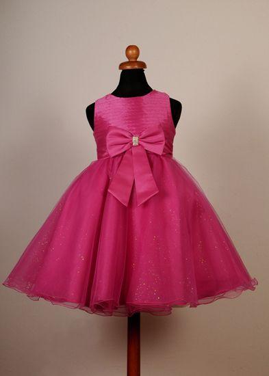 ff87c586d0d7 Φορέματα για Παρανυφάκια - Πάρτυ :: Καινούριο Σχέδιο 2015 Παιδικό Φόρεμα σε  Φούξια για βάφτιση