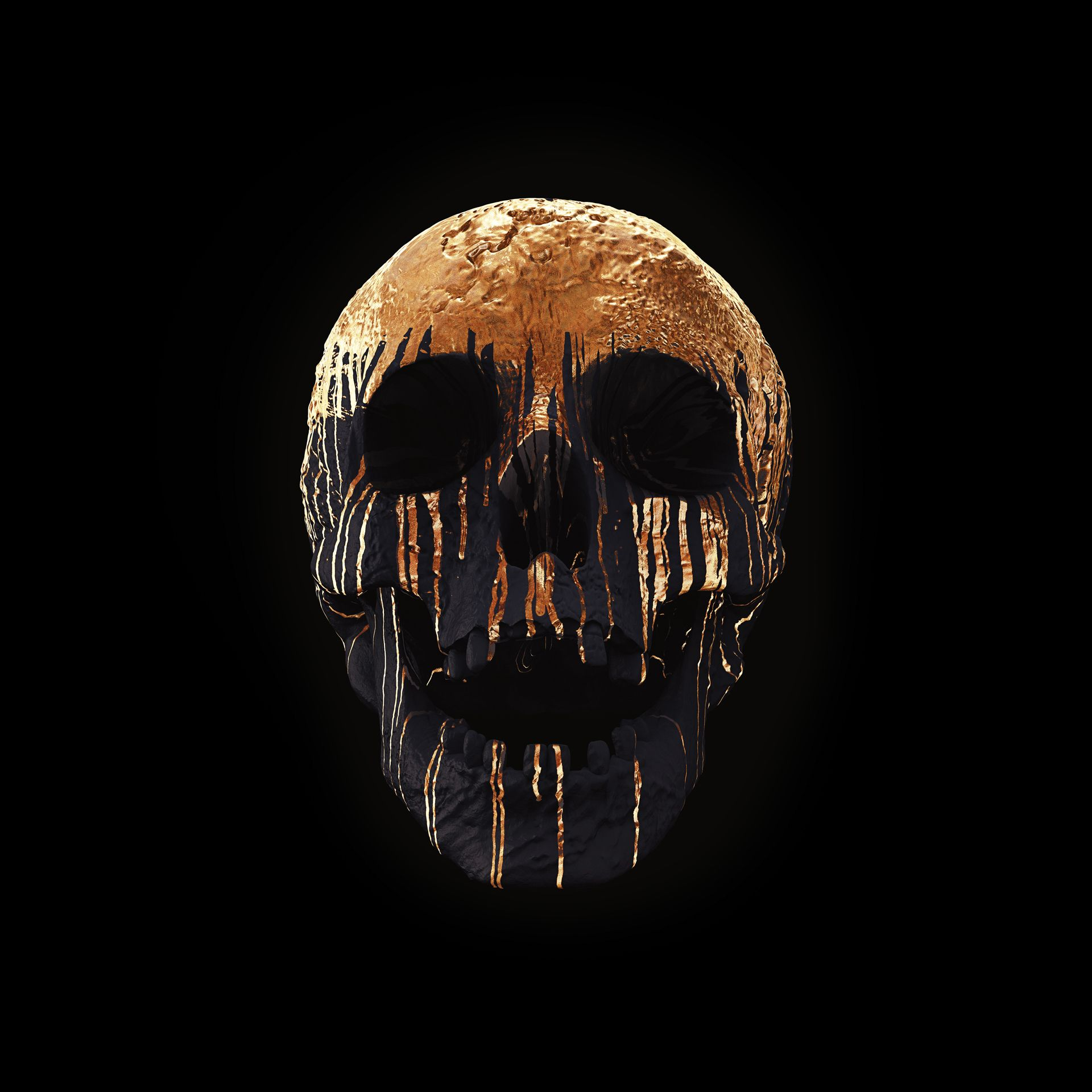 cranium rosa on behance skull black and gold