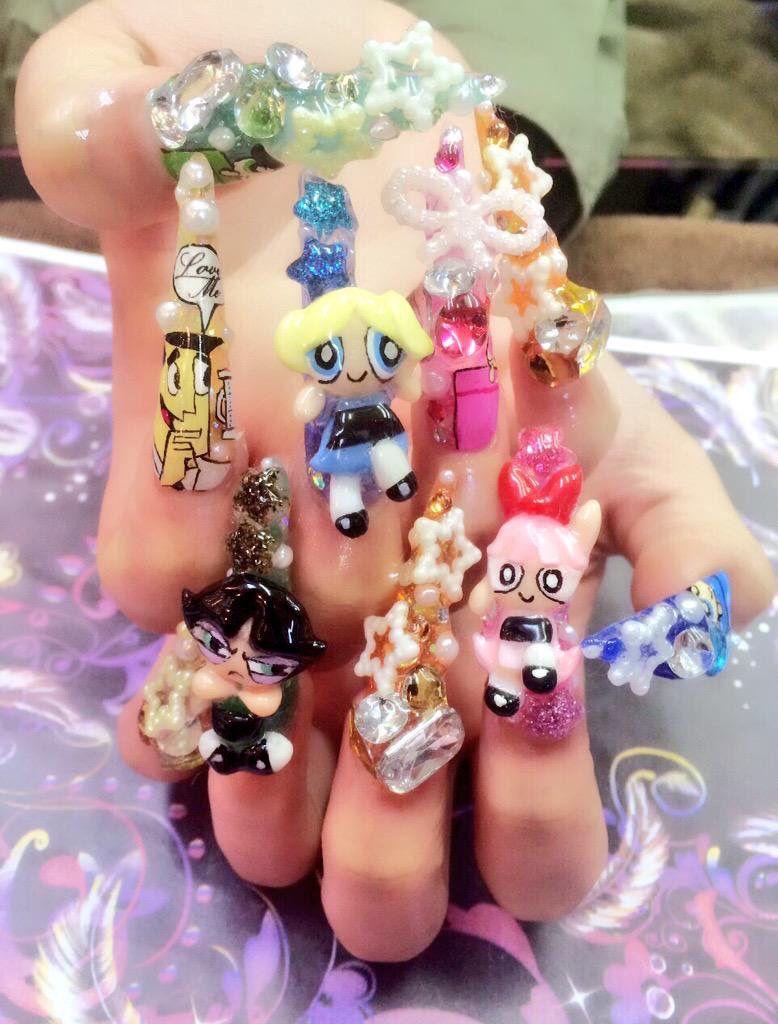 Powerpuff Girls nail