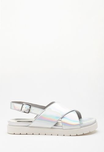 2c603d6513 Metallic Flatform Sandal from FOREVER 21 on Catalog Spree | Bags and ...