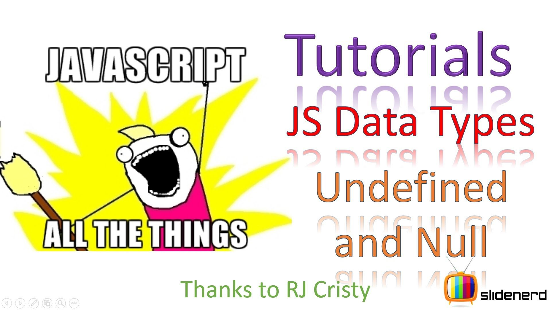 This JavaScript tutorial video talks about data types in ...