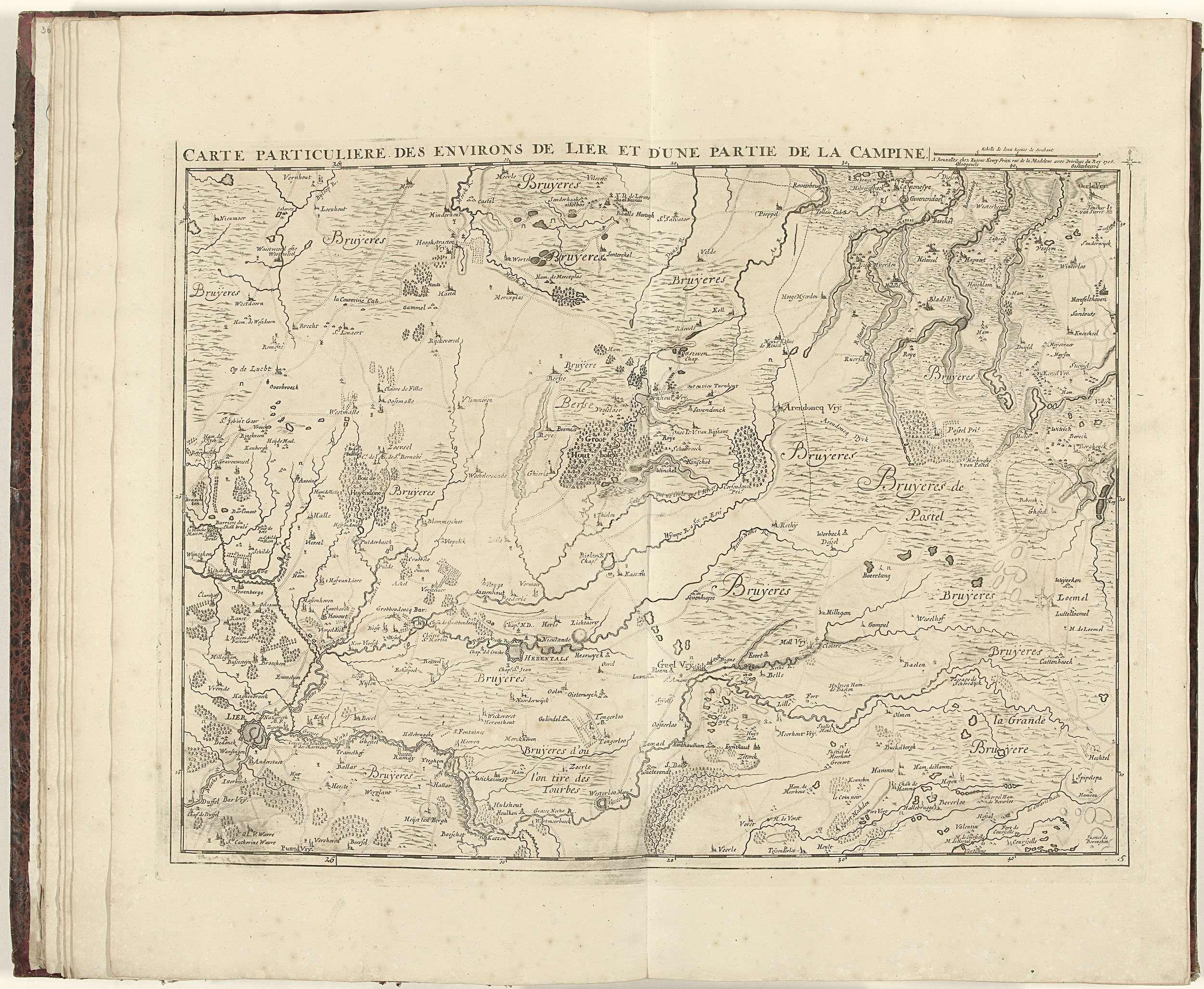 Eugene Henry Fricx Kaart Van De Provincie Antwerpen 1706