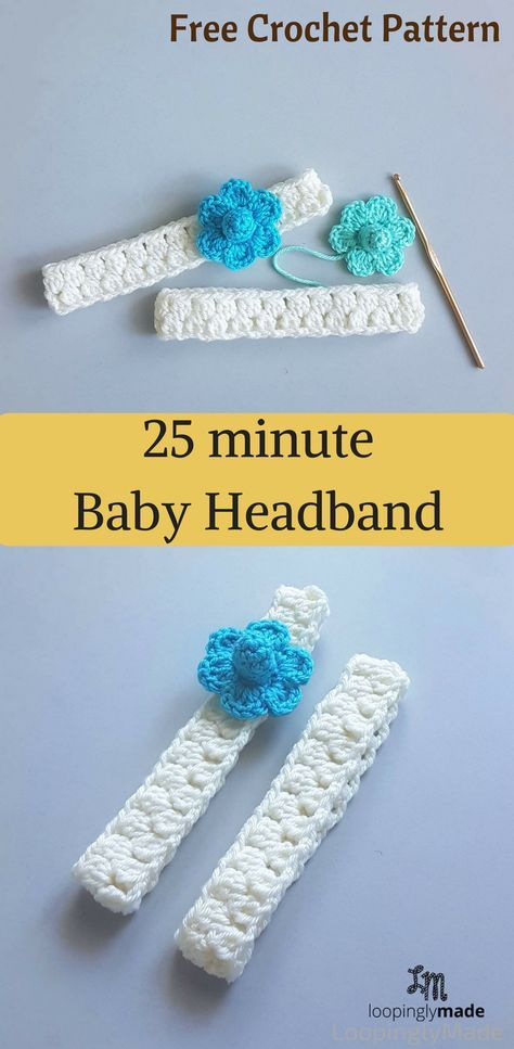 25 Minute Baby Headband Quick And Easy Crochet Pattern Crafts