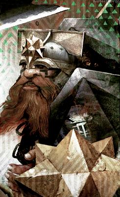 Dragon Age: Inquisition - races card - Dwarf | illustratio