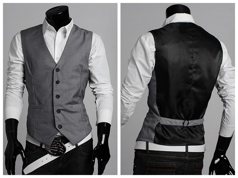 Mens sleeveless jacket with hood black color