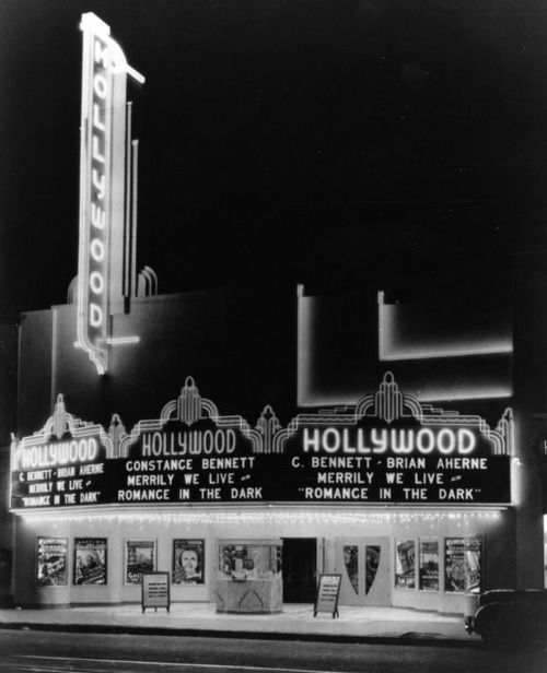 The Hollywood Theatre on Hollywood Blvd. - 1938