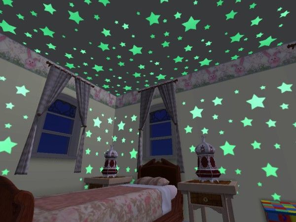 Free Shipping Cartoon Moon And Star Paste Meteor Fluorescence Stick Bedroom Decorative Wall Stickers For Kids Living Room 2019 Official Wall Stickers
