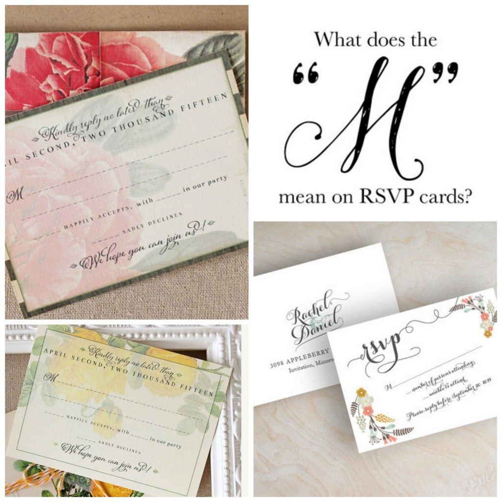 What Does The M On An Rsvp Card Mean Wedding Invitations Rsvp