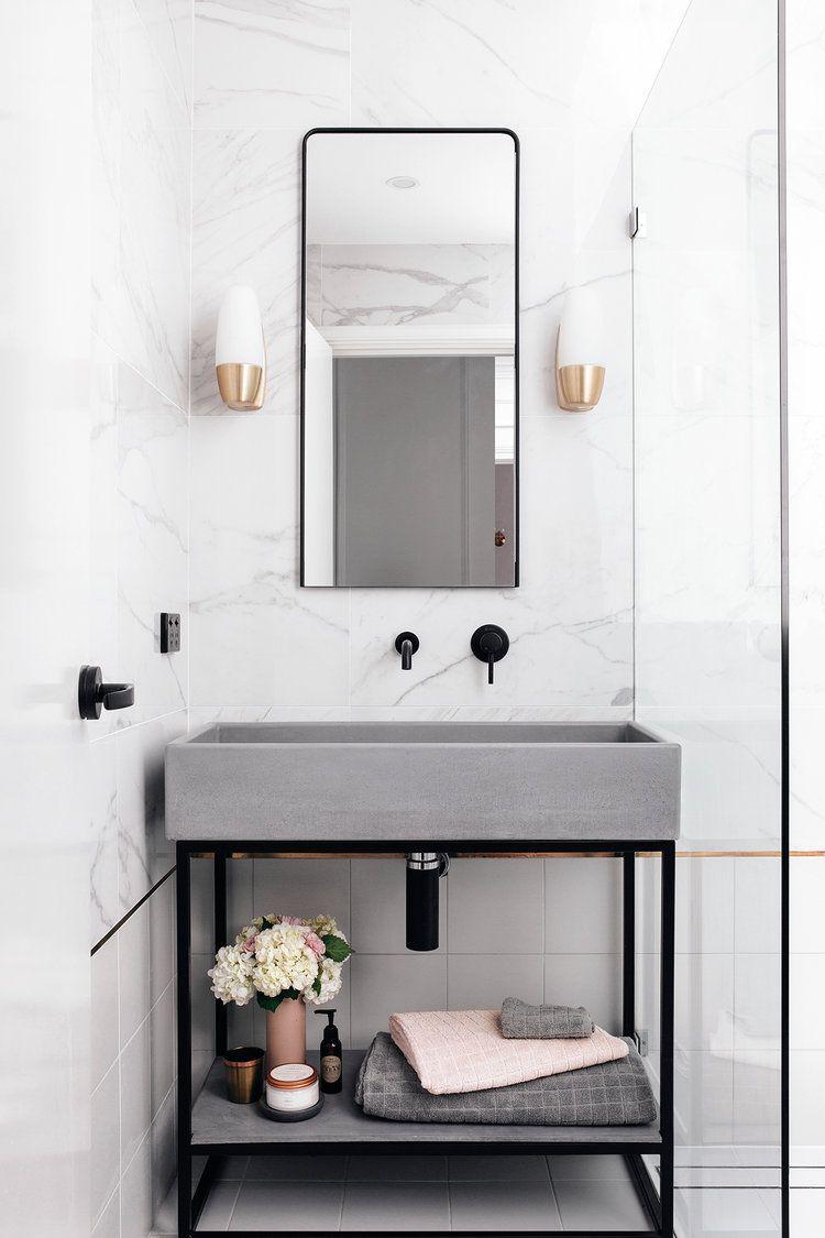 13 Dreamy Gray Bathroom Ideas | Trough sink, Grey bathrooms and ...