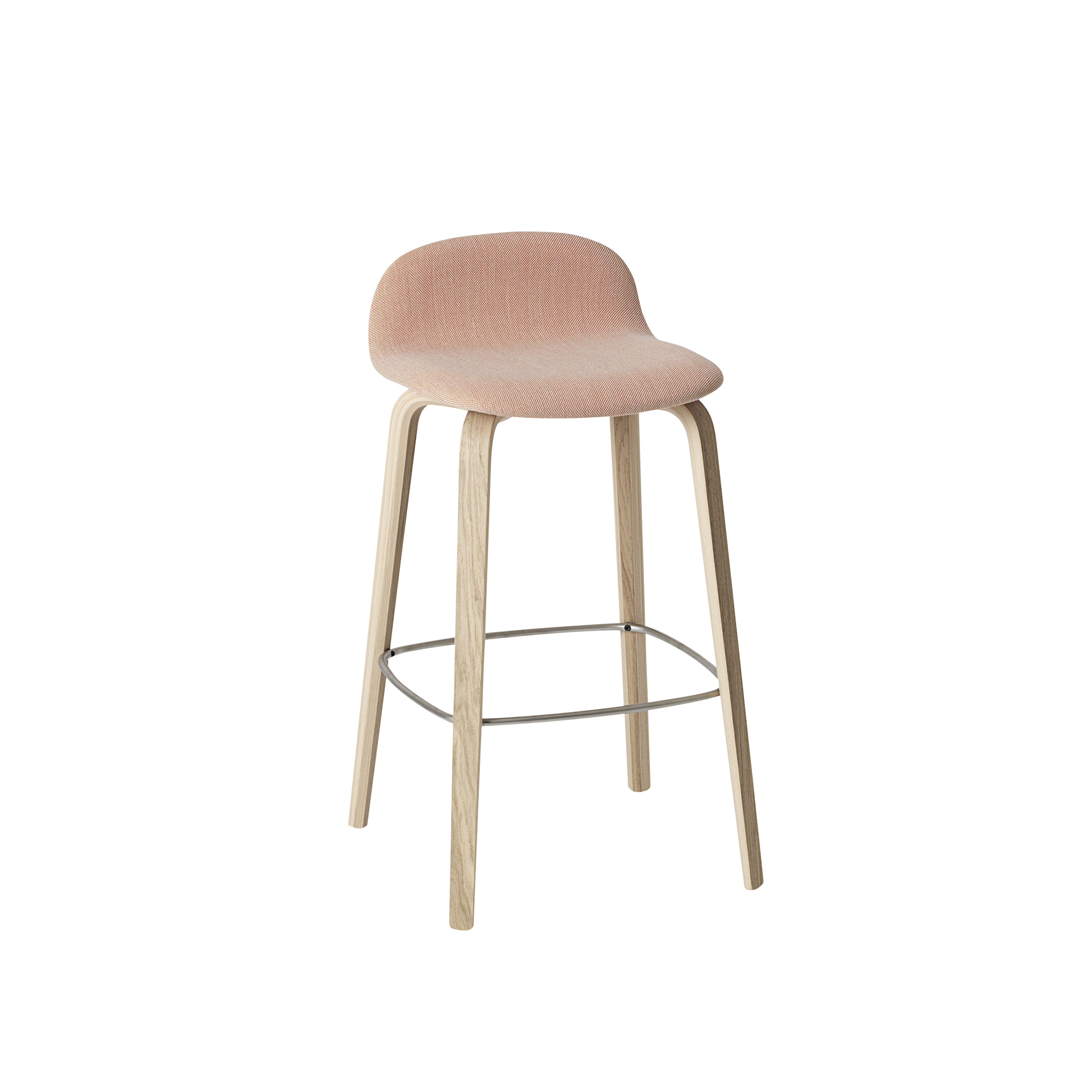 Visu Barstool With Textile Seat In Steelcut Trio 515, Designed