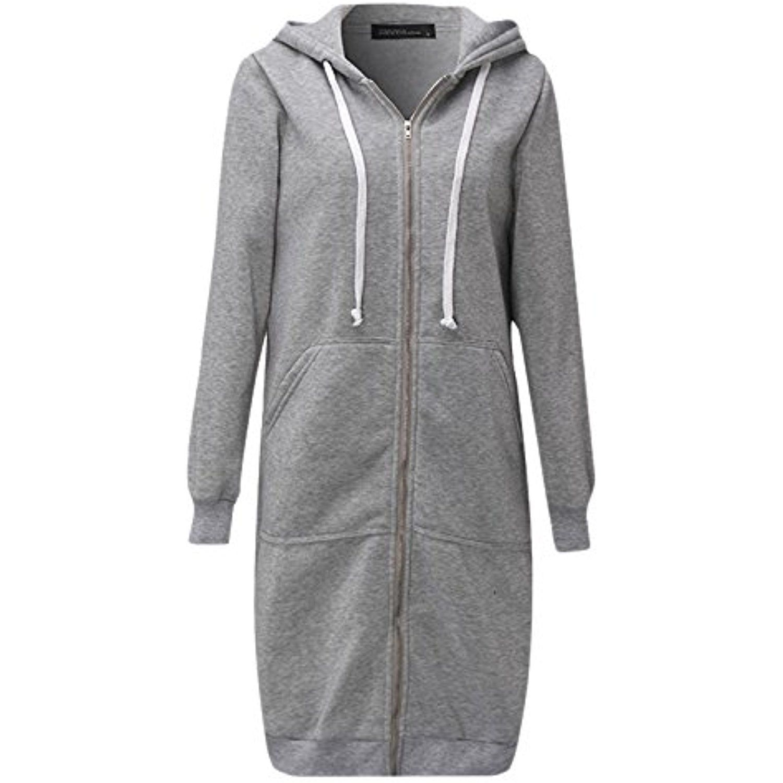 Women S Hoodie Drawstring Midi Length Long Sleeve Top Jacket Sweatshirts Coats With Pockets Long Hooded Sweatshirt Women Hoodies Sweatshirts Hoodies Womens [ 1500 x 1500 Pixel ]