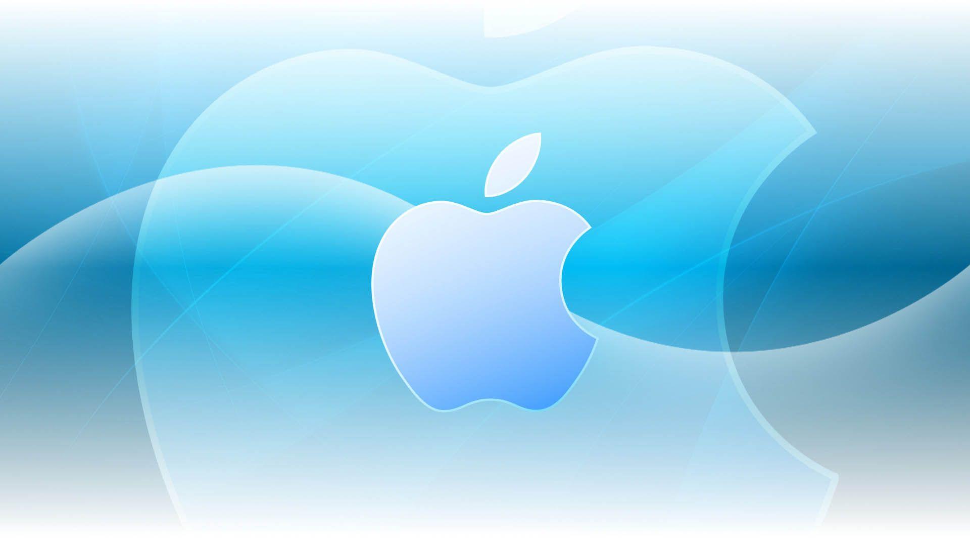 Aqua Apple Logo Os X Mountain Lion Desktop Background Apple Logo