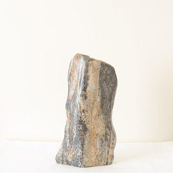 Amazing Stone Granite VaseOrganic Shape Hand Carved by Sevenstone
