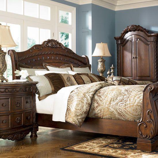 Elegant King Size Sleigh Bedroom Sets | ... Home Bedroom Furniture Bedroom Sets  North Shore