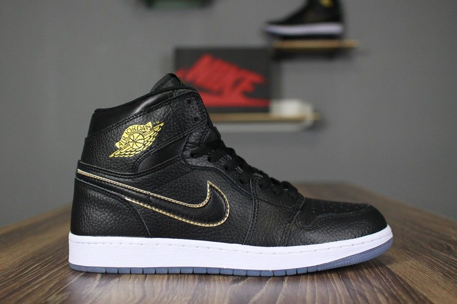 2018 Air Jordan 1 Retro High OG City of Flight Black Metallic Gold Summit  White 1dfc79887107