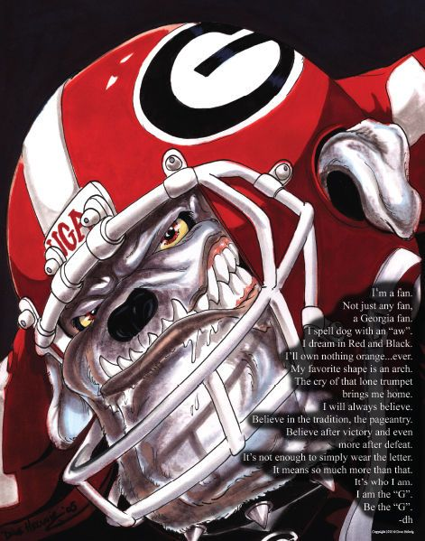 Details About University Of Georgia Bulldogs Football Dave Helwig