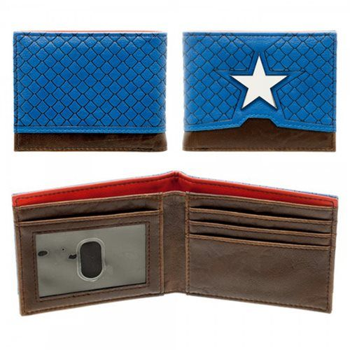 d65a103e61 Captain America Suit Up Bi-Fold Wallet | Marvel Comics Related Stuff ...