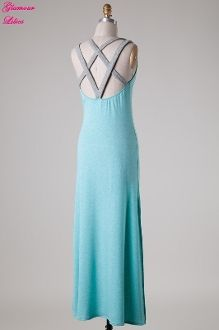 Jersey Maxi Dress with Cut Out Back-  Visit GlamourLilies.com for more details!