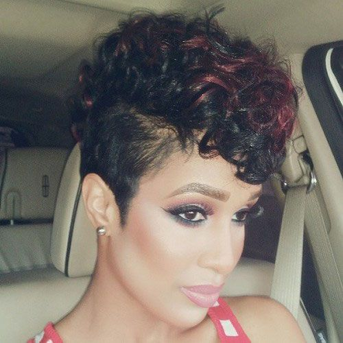 50 Mohawk Hairstyles for Black Women | Red curls, Mohawks and ...