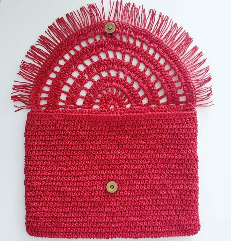 "Photo of Handmade purses on Instagram: ""Red detail2."