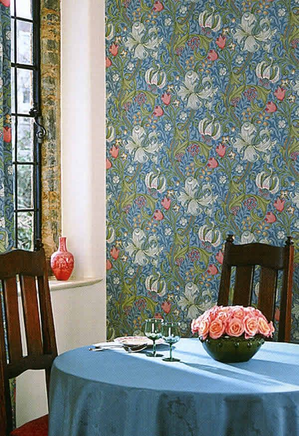 Morris Wallpapers Golden Lily by William Morris Уильям