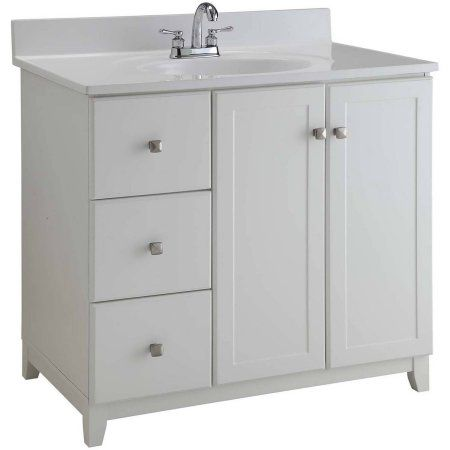Design House 547166 Shorewood Unassembled 2 Door 2 Drawer Vanity Without Top 36 White Walmart Com Bathroom Vanities Without Tops Vanity Drawer Design