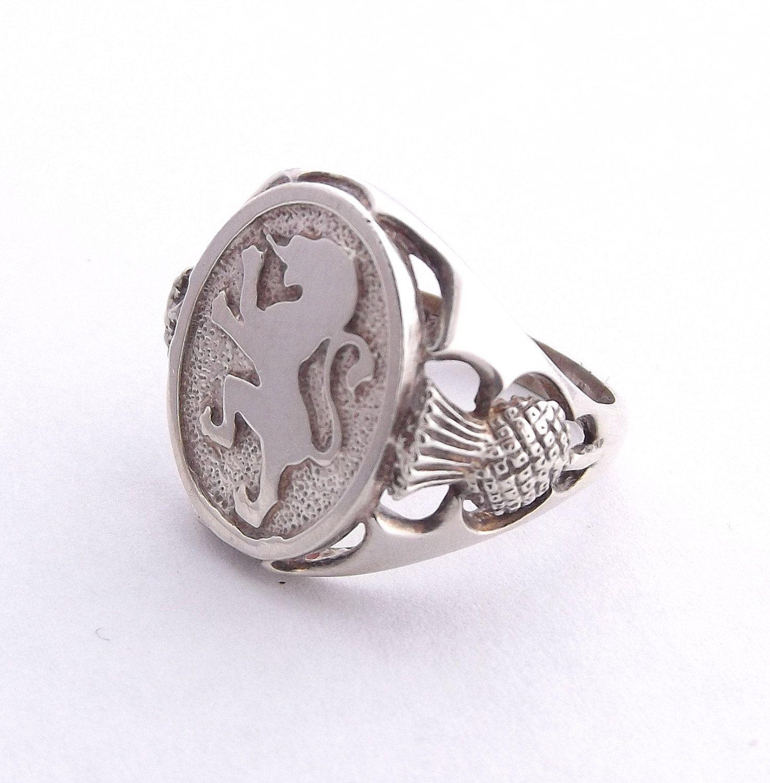 Scottish Signet Ring size UK V US 10 1 2 Men s Sterling Silver