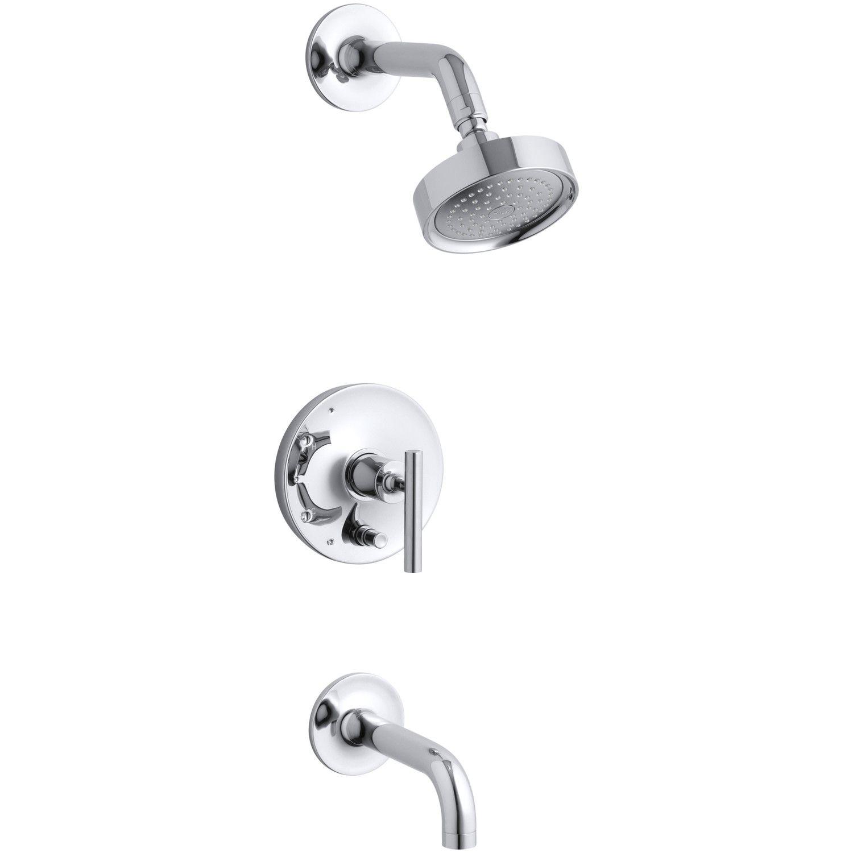 $398.95 Kohler Purist Rite-Temp Pressure-Balancing Bath and Shower ...