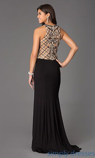 Floor Length Sleeveless Dress by Alyce at SimplyDresses.com
