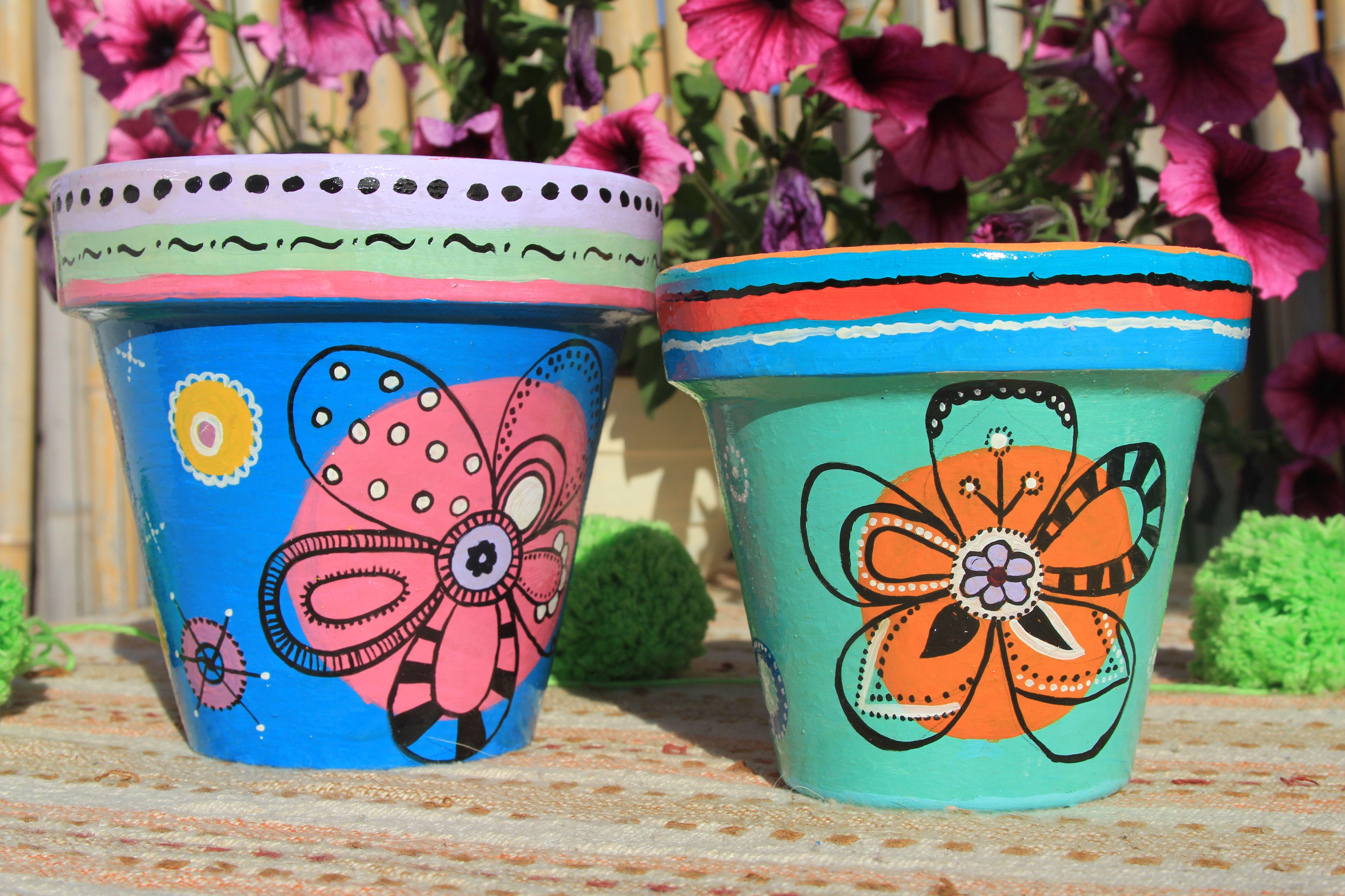 Amo pintar mis macetas decor ideas pinterest paint - Macetas de terracota ...