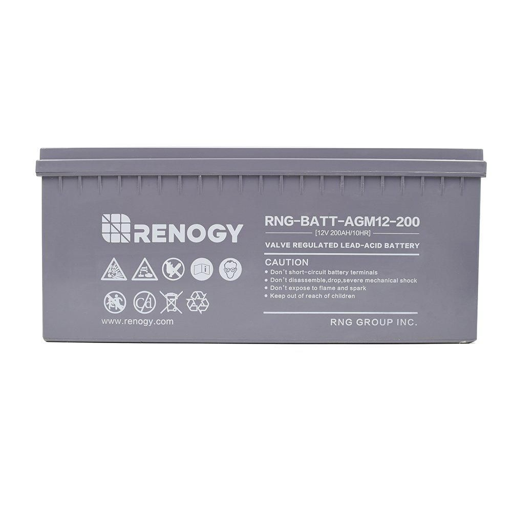 Renogy Deep Cycle Agm Battery 12 Volt 200ah For Solar Sanels Solar System In 2019 Solar System Solar Energy Storage