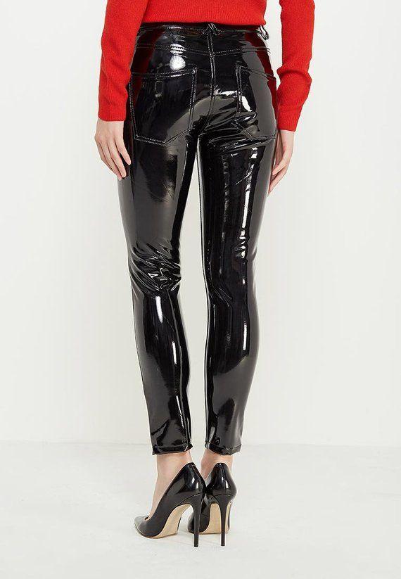 f8a2291e75eb PVC Vinyl Jeans Pants Leggings - Women's, Men's - Black, Red, Pink ...